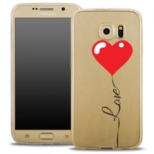 Pouzdro Back Case FASHION Samsung G935 Galaxy S7 Edge transparentní - love srdce