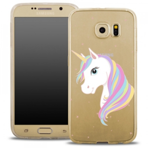 Pouzdro Back Case FASHION Samsung G935 Galaxy S7 Edge transparentní - jednorožec