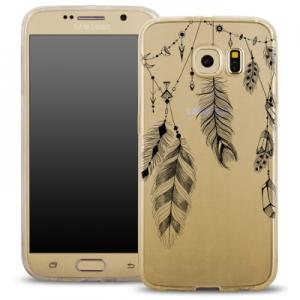 Pouzdro Back Case FASHION Samsung G920 Galaxy S6 transparentní - peříčka