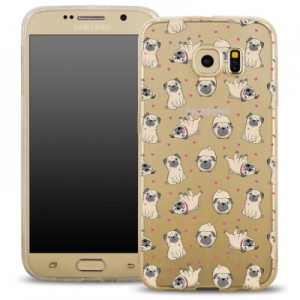 Pouzdro Back Case FASHION Samsung G920 Galaxy S6 transparentní - buldoci