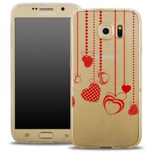 Pouzdro Back Case FASHION Samsung G930 Galaxy S7 transparentní - srdíčka