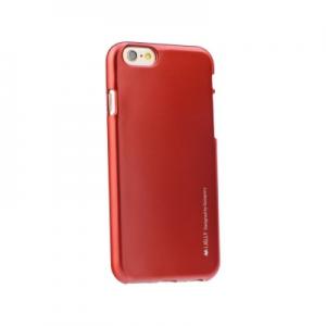 Pouzdro MERCURY i-Jelly Case METAL iPhone 5, 5S, 5C, SE červená