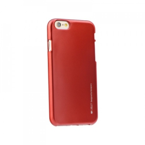 Pouzdro MERCURY i-Jelly Case METAL iPhone 7, 8 (4,7) červená