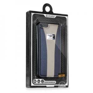 Pouzdro KAKU BLI iPhone 7 PLUS (5,5) barva šedá/modrá