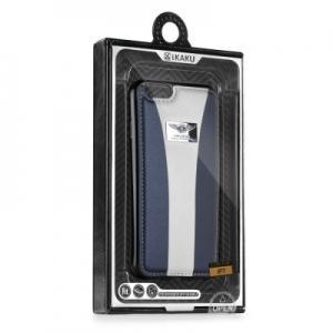 Pouzdro KAKU BLI iPhone 7 PLUS (5,5) barva bílá/modrá