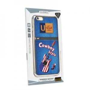 Pouzdro KAKU FAMOUS iPhone 6, 6S (4,7) Cowboy style - silver