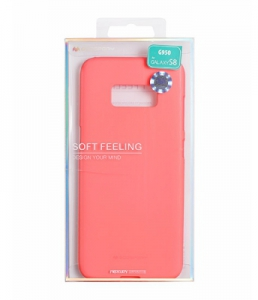Pouzdro MERCURY Soft Feeling Case Samsung J330 Galaxy J3 (2017) růžová