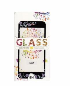 Tvrzené sklo 2,5D DESIGN Soft Frame Full Cover iPhone 6, 6S (4,7) vzor 4 černá