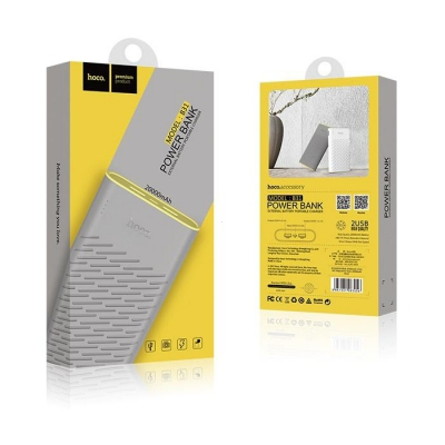 POWER Bank HOCO Rege B31 - 20000mAh barva šedá