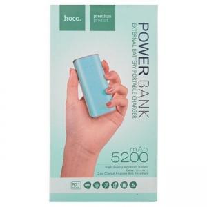 POWER Bank HOCO Tiny B21 - 5200mAh barva mint (zelená)