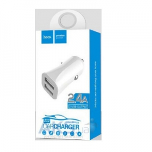 CL adaptér HOCO Z12 2x USB 2,4A barva bílá