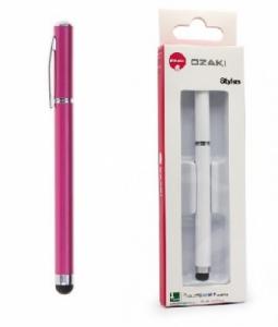 Dotykové pero (stylus) kapacitní OZAKI propiska barva růžová