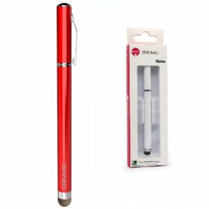 Dotykové pero (stylus) kapacitní OZAKI propiska barva červená