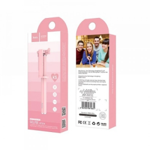 Selfie držák HOCO Neoteric K5 3,5mm jack barva růžová