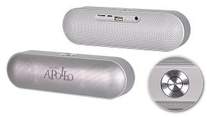 Mini reproduktor Bluetooth APOLLO + rádio barva stříbrná