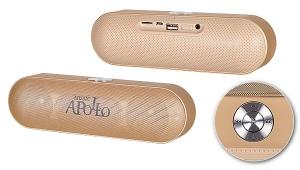 Mini reproduktor Bluetooth APOLLO + rádio barva zlatá