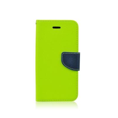Pouzdro FANCY Diary iPhone X, XS (5,8) barva limetka/modrá
