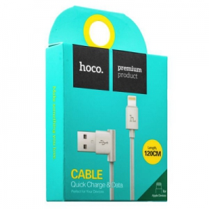 Datový kabel HOCO UPL11 90° iPhone 5, 6, 7, 8, X barva bílá