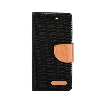 Pouzdro CANVAS Fancy Diary Huawei P20 černá