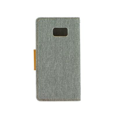 Pouzdro CANVAS Fancy Diary Huawei P20 šedá