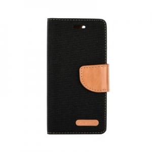 Pouzdro CANVAS Fancy Diary Huawei P SMART černá