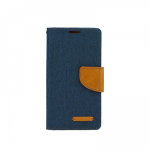 Pouzdro CANVAS Fancy Diary Huawei P SMART navy blue