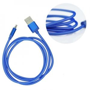 Datový kabel iPhone 5, 5S, 5C, 6, 6S, 6Plus, 7, 7plus, 8, 8Plus, X barva modrá - METAL