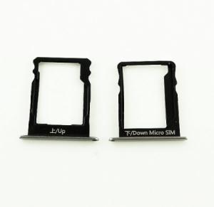 Držák (šuplík) SIM Huawei P8 LITE černá / grey