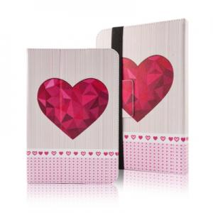 Pouzdro na TABLET 7´´- 8´´ Comfort - Velké červené srdce