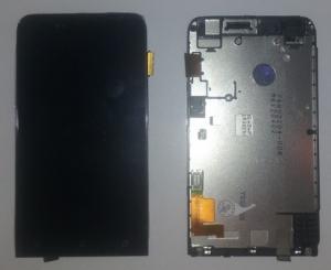 Dotyková deska HTC One V + LCD + přední kryt originál černá