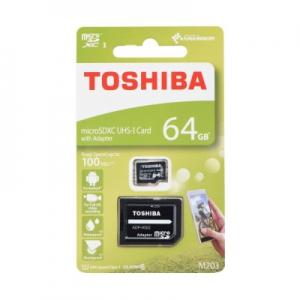 Paměťová karta micro SD TOSHIBA 64GB Class 10 UHS I 100MB/s Blistr