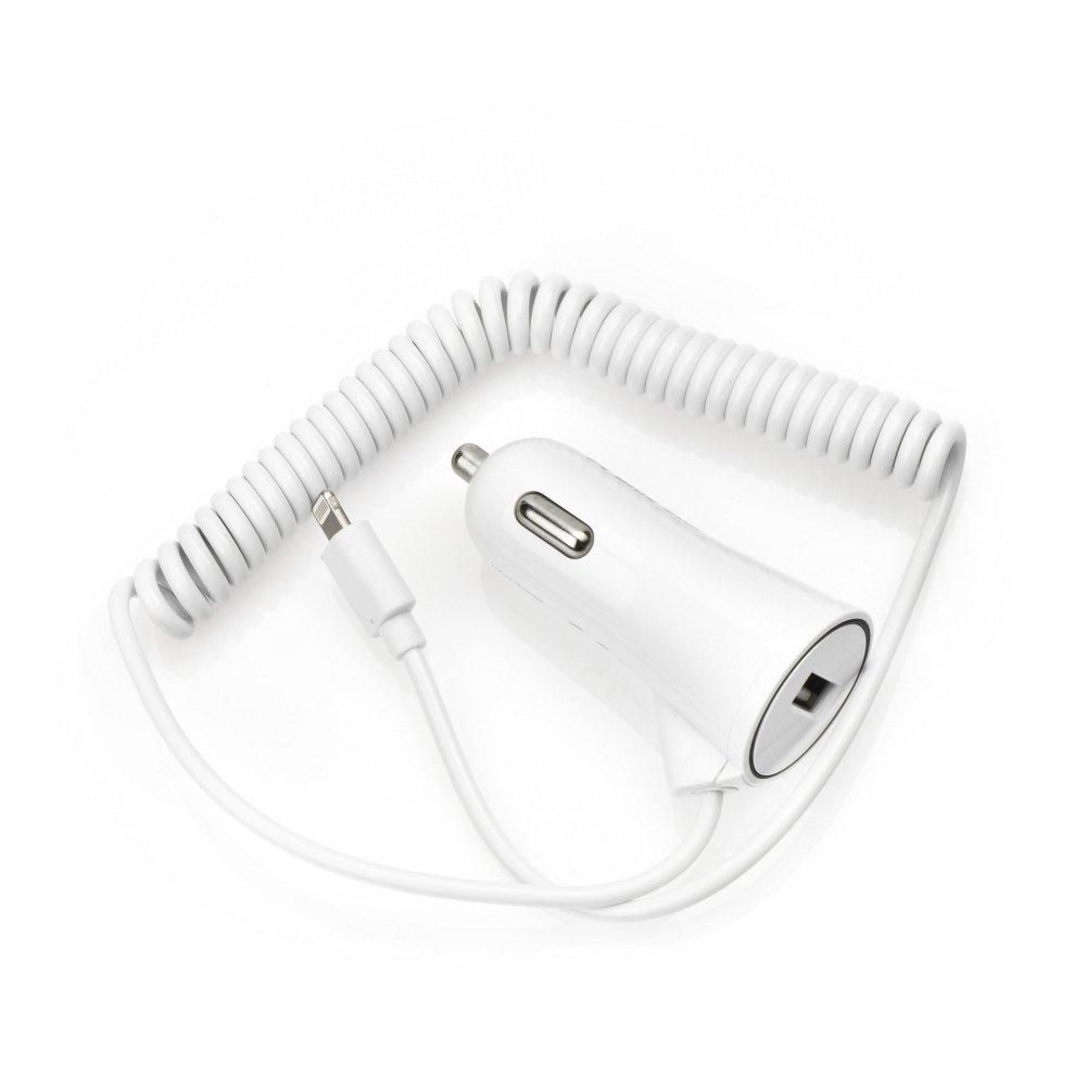 Auto nabíječ BlueStar 1xUSB 2A + kabel iPhone 5/6/6s/7/8/X