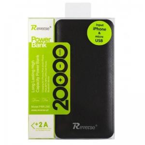 Externí baterie POWER BANK Reverse PBR-290, 20000mAh černá