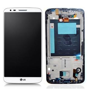 Dotyková deska LG G2 (D802) + LCD + rámeček bílá