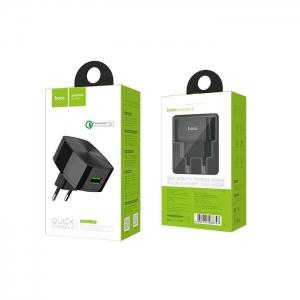 Cestovní nabíječ HOCO C26 1xUSB Quick Charge 3.0A černá