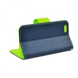 Pouzdro FANCY Diary TelOne Lenovo Vibe P1m barva modrá/limetka