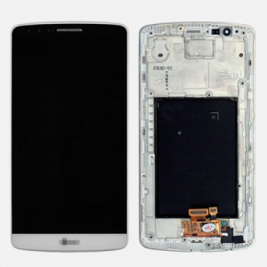 Dotyková deska LG G3 D855 + LCD + rámeček bílá