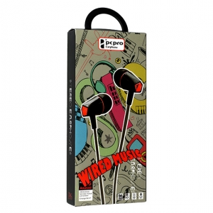 Hands Free Wired MUSIC P6 3,5 mm jack, barva černá/červená