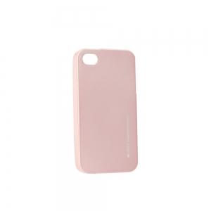 Pouzdro MERCURY i-Jelly Case METAL iPhone 5, 5S, 5C, SE rose gold