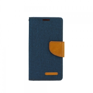 Pouzdro CANVAS Fancy Diary Huawei Y7 (2018), Y7 PRIME (2018) navy blue