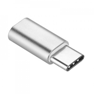 Redukce micro USB / micro USB Typ C barva stříbrná