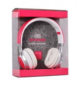 Sluchátka EP-16 Extra BASS barva růžová
