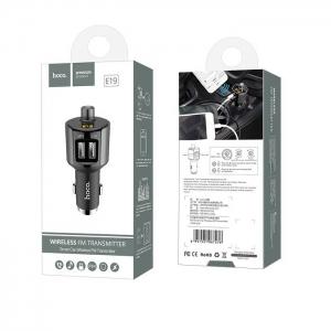 Transmitér FM Bluetooth HOCO E19 + 2,4A 2xUSB