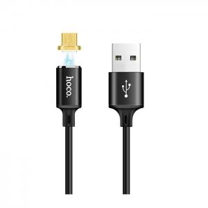 Datový kabel HOCO U28 micro USB MAGNET barva černá