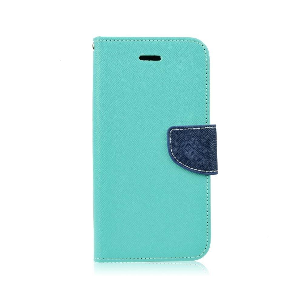 Pouzdro FANCY Diary Samsung J600 GALAXY J6 (2018) barva světle modrá/modrá