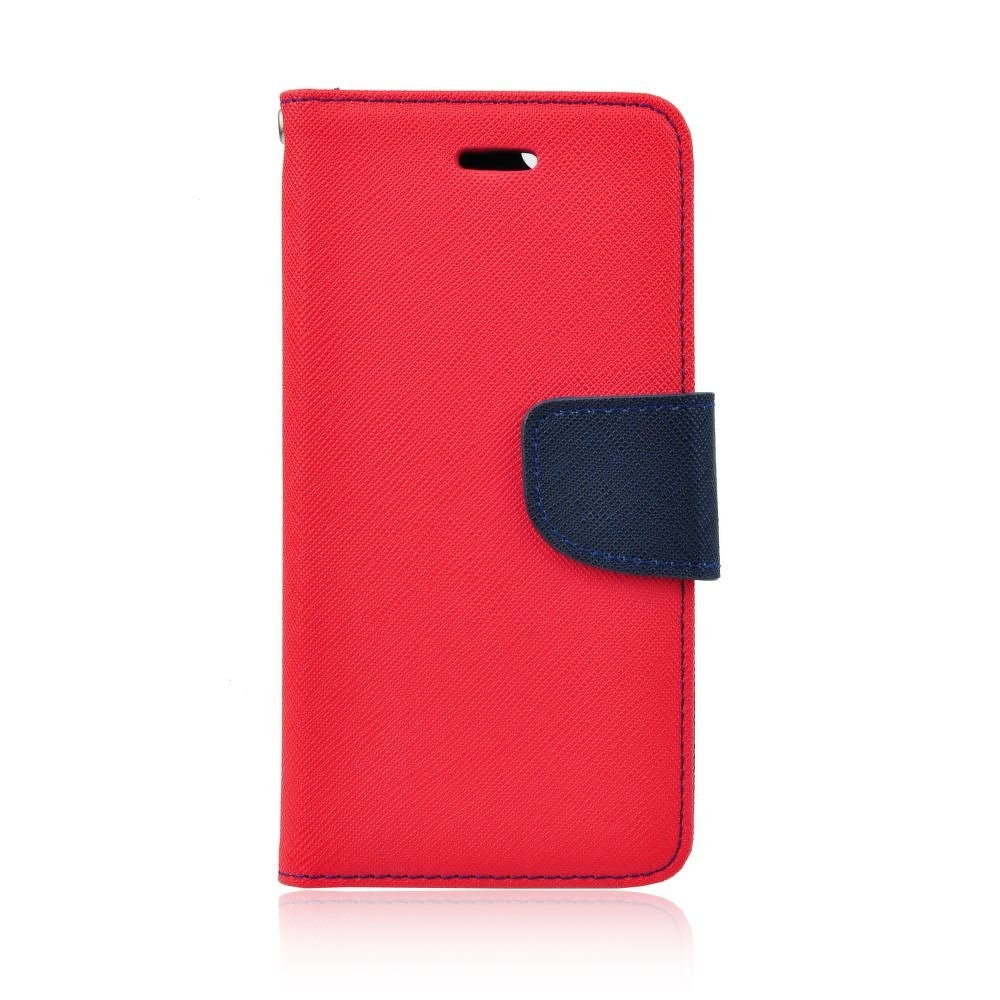 Pouzdro FANCY Diary Huawei HONOR 7c barva červená/modrá