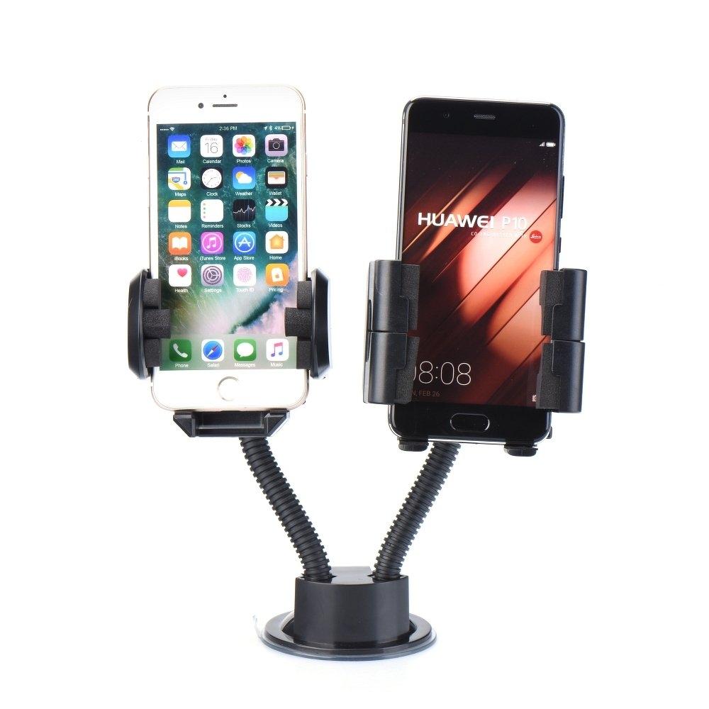 Držák do auta FLY DUO LONG ARM na dva telefony