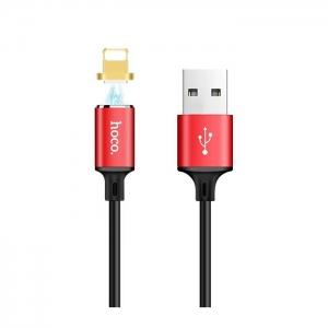 Datový kabel HOCO U28 iPhone 5, 6, 7, 8, X MAGNET barva červená