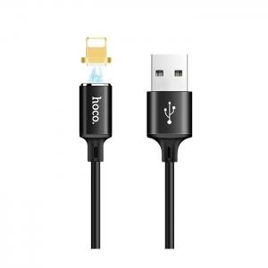 Datový kabel HOCO U28 iPhone 5, 6, 7, 8, X MAGNET barva černá