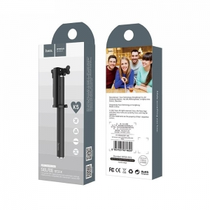 Selfie držák HOCO Neoteric K5 3,5mm jack barva černá